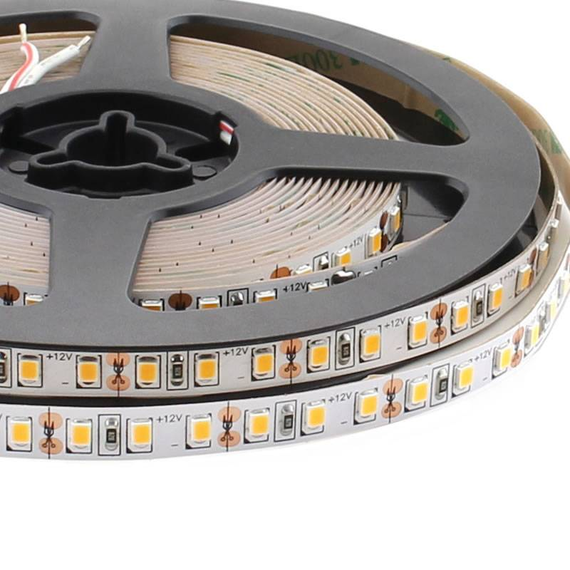 Tira LED EPISTAR SMD2835, DC12V, 5m (120Led/m) - IP20, Blanco cálido